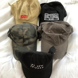 "Accessories - Assorted ""dad hat"" bundle"